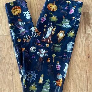 LuLaRoe OS CIR Halloween Leggings